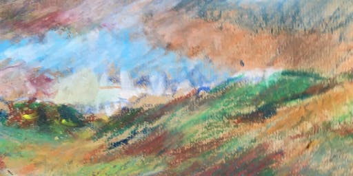 Taming the wilder side of the landscape, with oil pastels.