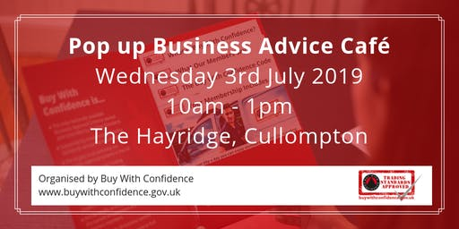 Pop Up Business Advice Cafe