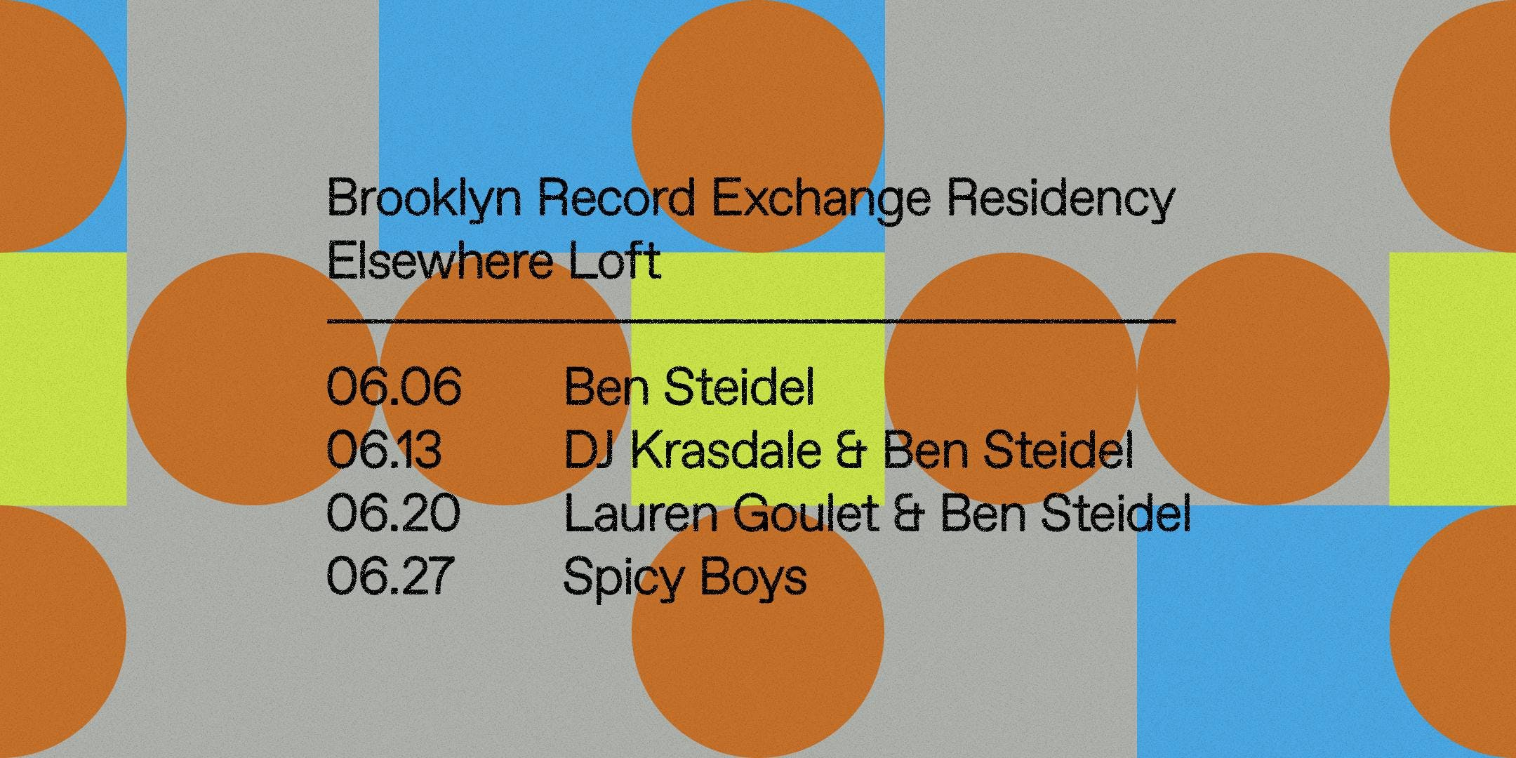 Brooklyn Record Exchange Residency w/ DJ Krasdale & Ben Steidel