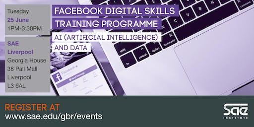 SAE Liverpool: Facebook Digital Skills Training - AI (Artificial Intelligence) and Data