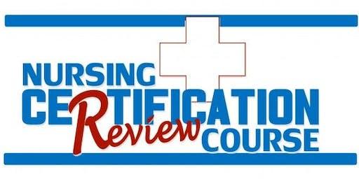 2019 Critical Care Nursing Certification (CCRN) Exam Review Course