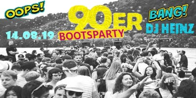 Die 90´er Bootsparty