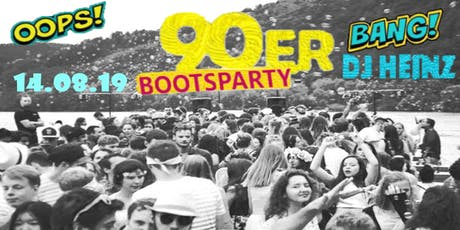 Die 90´er Bootsparty Tickets