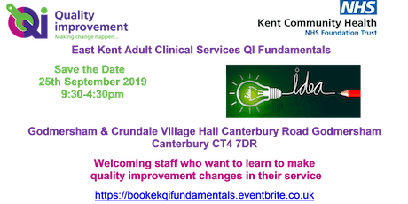 QI Fundamentals for East Kent Adult Clinical Services tickets