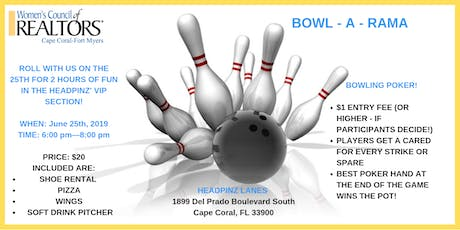 Bowl A Rama with Women's Council of REALTORS Cape Coral-Fort Myers tickets