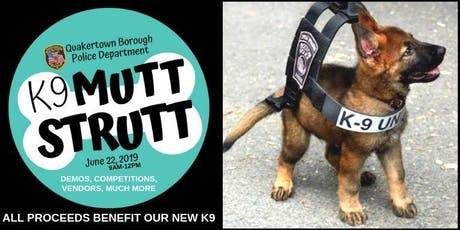 Quakertown Police K9 Mutt Strutt tickets