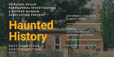 Haunted History: Doty Homestead tickets