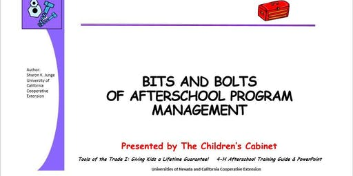 Bits and Bolts of After-school Program Management