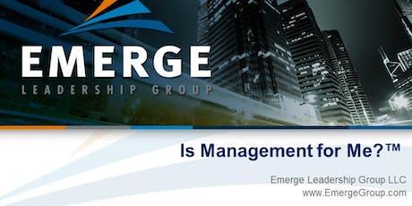 Is Management for Me?™ Virtual Workshop - September 12, 2019 1:00pm ET - 3:30pm ET tickets