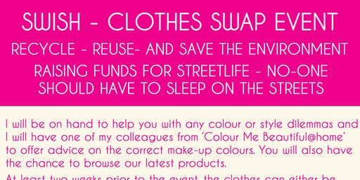 Swish Clothes Swap Event in aid of Streetlife