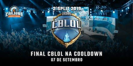 Final do Cblol na Cooldown - 2° Split 2019 ingressos