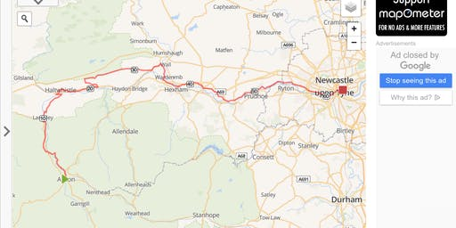 Cycle against Torture 2019 STAGE 13 Alston to Newcastle