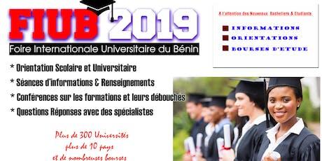 Foire Internationale Universitaire du Bénin ( FIUB 2019) billets