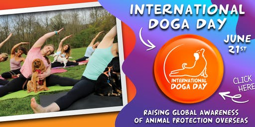 International Doga Day 2019 (A Global Dog Yoga Class To Raise a Paw For Kindness)