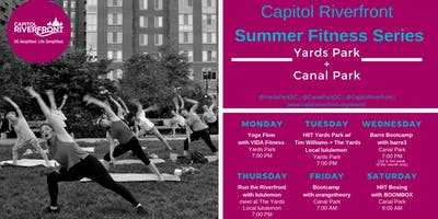 CapRiv Fitness Series: HIIT The Riverfront w/ Tim Williams + lululemon