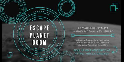 Pop Up Escape Room: Escape Planet Doom