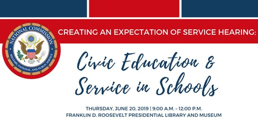 Creating an Expectation of Service Hearing: Civic Education and Service in Schools