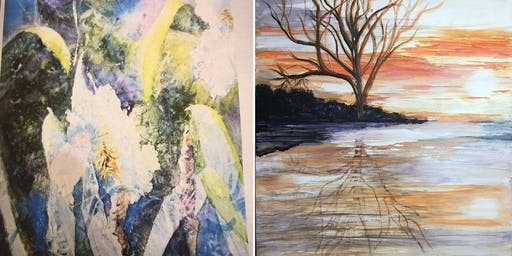 1 Full Day: Gesso Juice: Adventures in Abstract w/ Guest Wendy Cunico