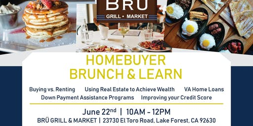 Homebuyer Workshop at BRU Grill in Lake Forest June 22