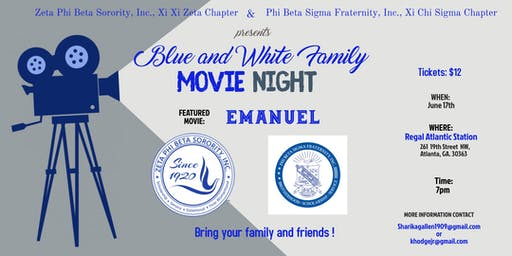Blue and White Family Movie Night