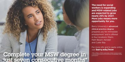 MSW - Masters in Social Work Information Session (Virtual Session)