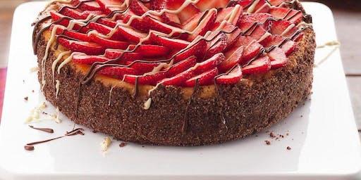 Couple's Baking Class - Strawberries & Champagne Cheesecake + Wine Tasting