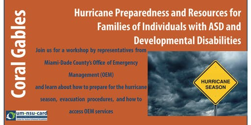 Hurricane Preparedness and Resources for Families of Individuals with ASD and Developmental Disabilities