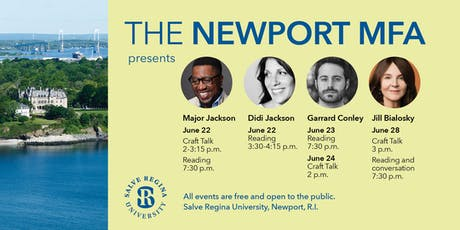 The Newport MFA Presents....Guest Author Reading and Craft Talks tickets