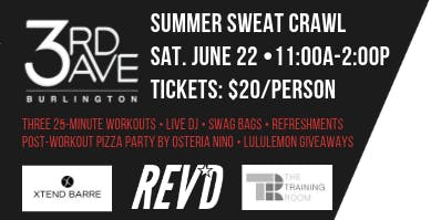 3rd Ave Burlington Summer Sweat Crawl