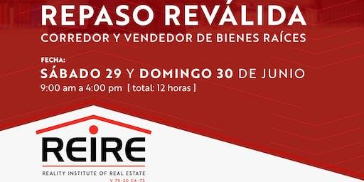REPASO Reválida JULIO 2019 - Corredor/Vendedor de Bienes Raíces