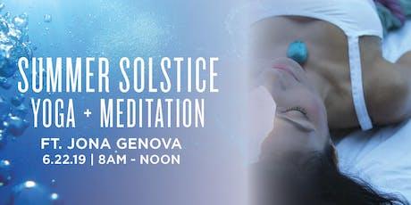 Woodside Summer Solstice Retreat Ft. Jona Genova  tickets