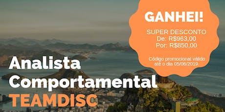 Formação Analista Comportamental TEAMDISC Profiler - Rio de Janeiro ingressos