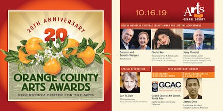 20th Annual Orange County Arts Awards tickets