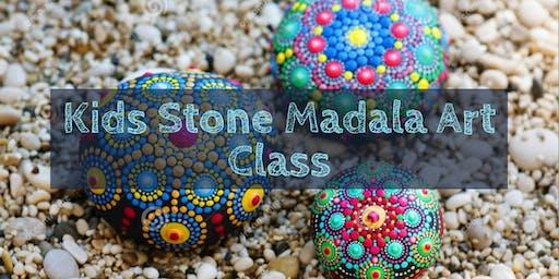 Kids' Mandala Painting On Stones