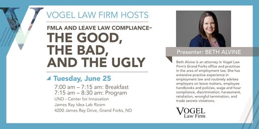 Vogel Law Firm Hosts The Breakfast Buzz: FMLA and Leave Law Compliance