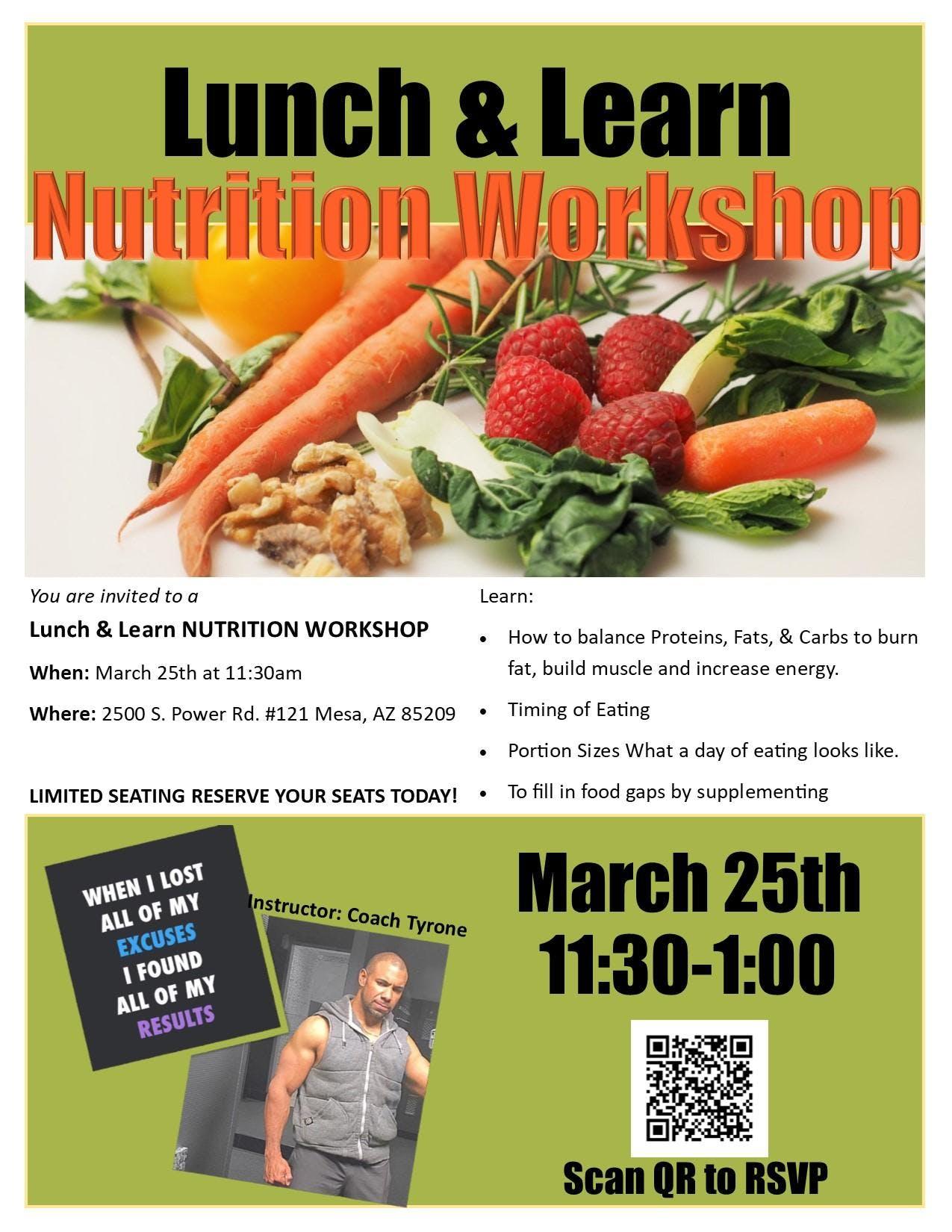 Coach Tyrone's Nutrition Workshop
