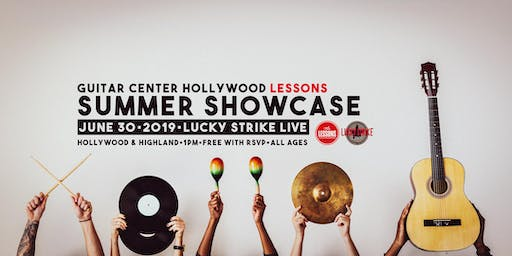 Guitar Center Hollywood Lessons Summer Showcase at Lucky Strike Live