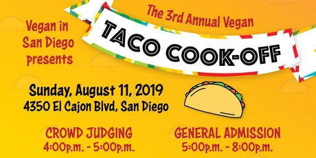 Vegan in San Diego Taco Cook-off 2019 tickets