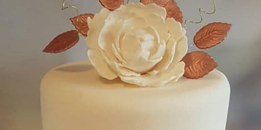Fondant Cake with Sugar Peony Cake Decorating Class