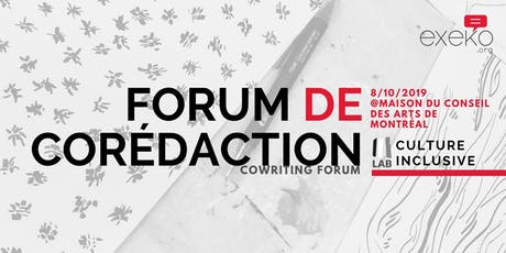 Forum de corédaction du Lab Culture Inclusive tickets