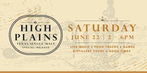 Balcones High Plains Single Malt Release