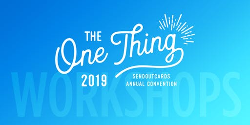 The One Thing Annual Convention | Workshops