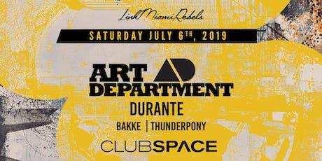 Art Department & Durante tickets