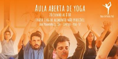Aula Aberta de Yoga
