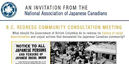 NAJC BC Redress Community Consultation - New Denver, BC