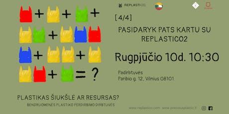 Pasidaryk pats kartu su REPLASTICO2 tickets