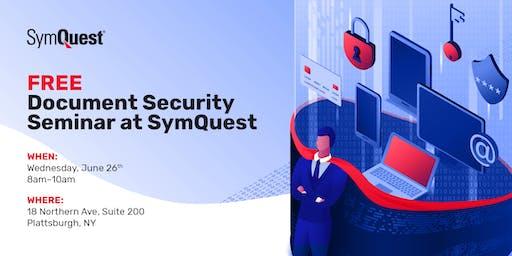 FREE Document Security Seminar at SymQuest, Plattsburgh