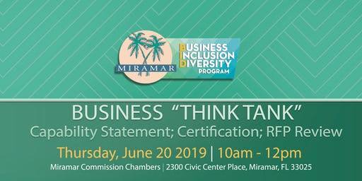 "Business ""Think Tank"" – Capability Statement; Certification; RFP Review"