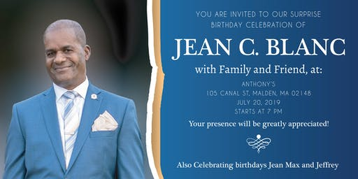 Surprise! Celebrating Jean C. Blanc