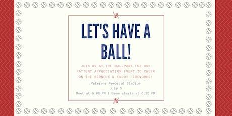 Patient Appreciation Event: Kernels Baseball Game tickets